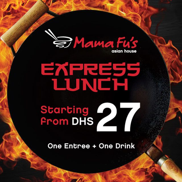 Enjoy lunch break with your family and friends at Mama Fu's!