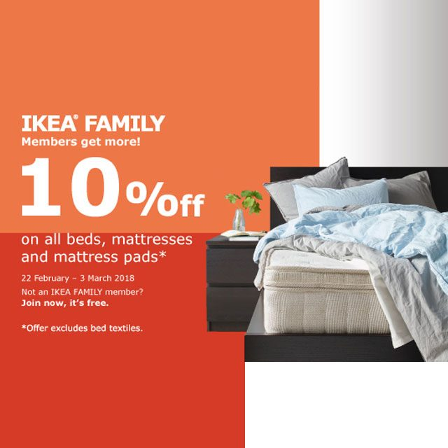 10% off on all beds, mattresses and mattress pads